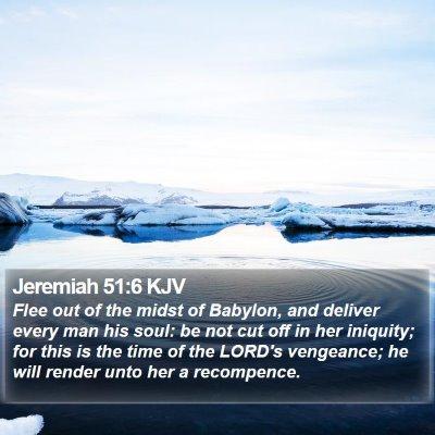 Jeremiah 51:6 KJV Bible Verse Image