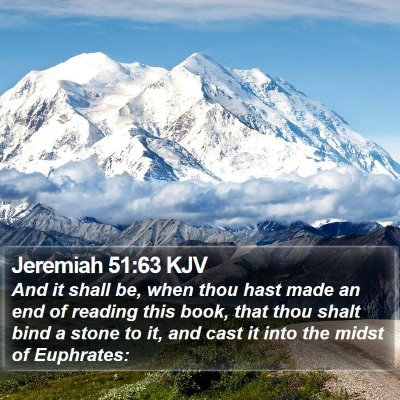 Jeremiah 51:63 KJV Bible Verse Image