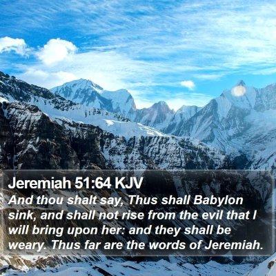 Jeremiah 51:64 KJV Bible Verse Image