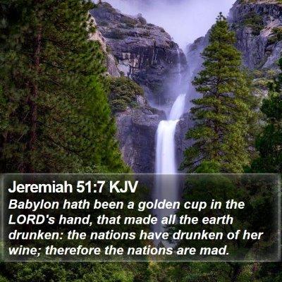 Jeremiah 51:7 KJV Bible Verse Image