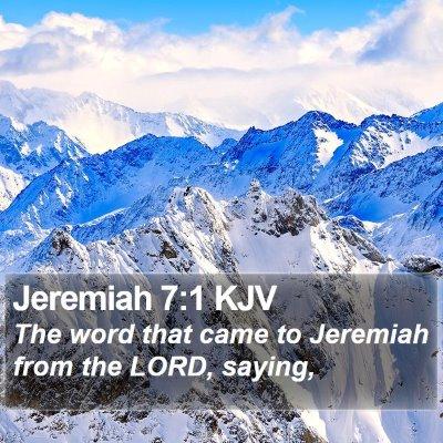 Jeremiah 7:1 KJV Bible Verse Image