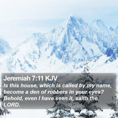 Jeremiah 7:11 KJV Bible Verse Image