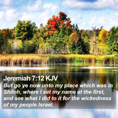 Jeremiah 7:12 KJV Bible Verse Image
