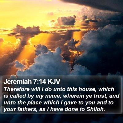 Jeremiah 7:14 KJV Bible Verse Image