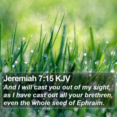 Jeremiah 7:15 KJV Bible Verse Image