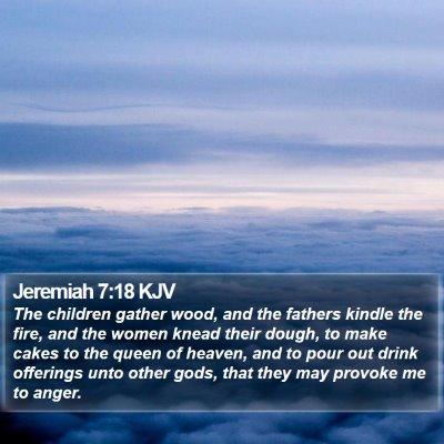 Jeremiah 7:18 KJV Bible Verse Image
