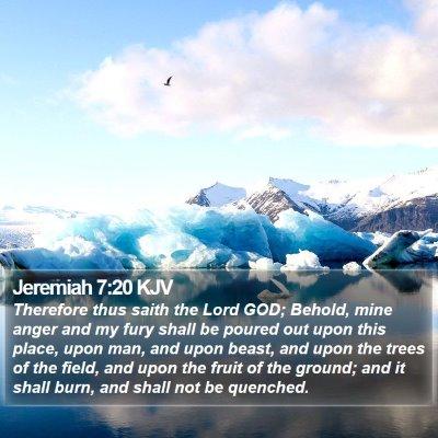 Jeremiah 7:20 KJV Bible Verse Image