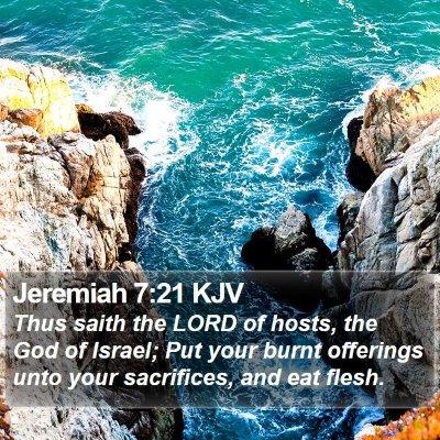 Jeremiah 7:21 KJV Bible Verse Image