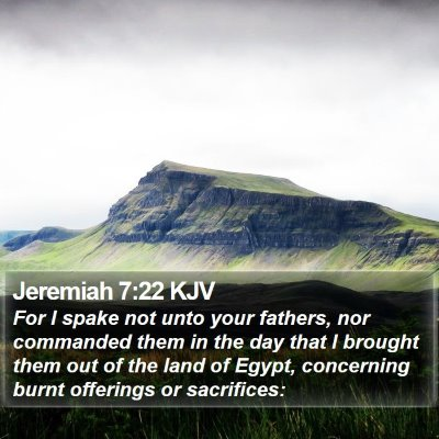 Jeremiah 7:22 KJV Bible Verse Image