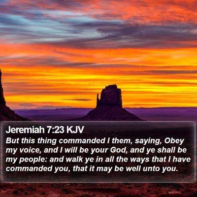 Jeremiah 7:23 KJV Bible Verse Image