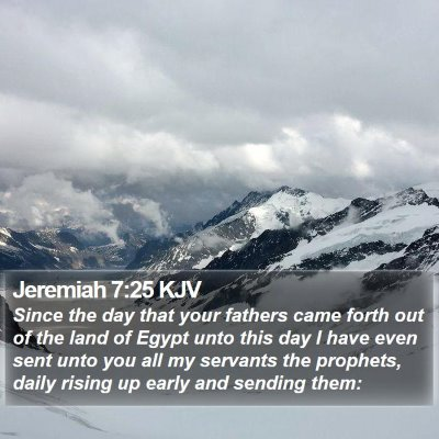 Jeremiah 7:25 KJV Bible Verse Image
