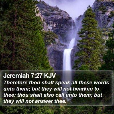 Jeremiah 7:27 KJV Bible Verse Image
