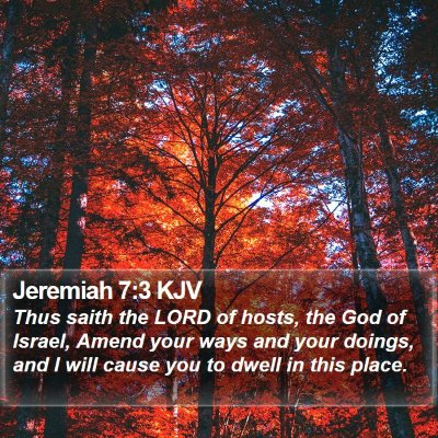 Jeremiah 7:3 KJV Bible Verse Image