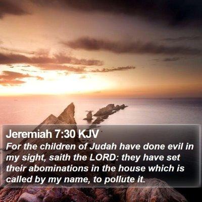 Jeremiah 7:30 KJV Bible Verse Image