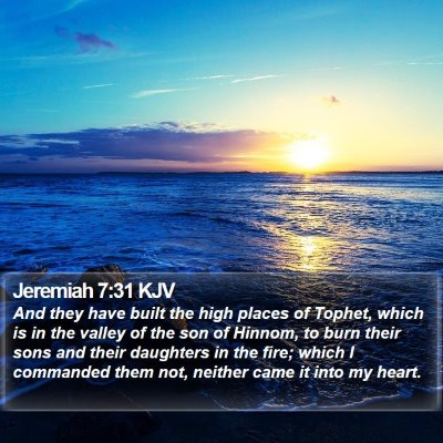 Jeremiah 7:31 KJV Bible Verse Image