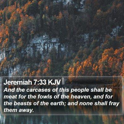 Jeremiah 7:33 KJV Bible Verse Image