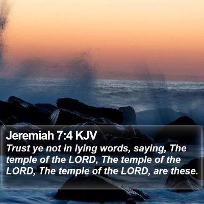 Jeremiah 7:4 KJV Bible Verse Image