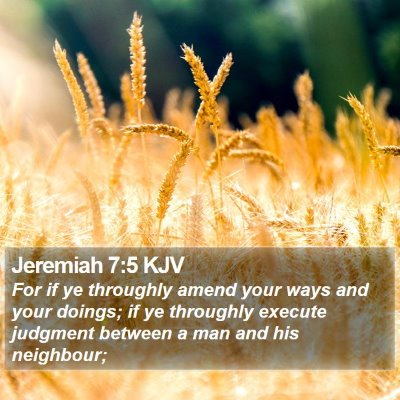 Jeremiah 7:5 KJV Bible Verse Image
