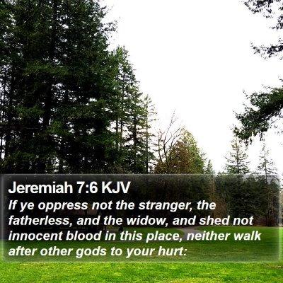 Jeremiah 7:6 KJV Bible Verse Image