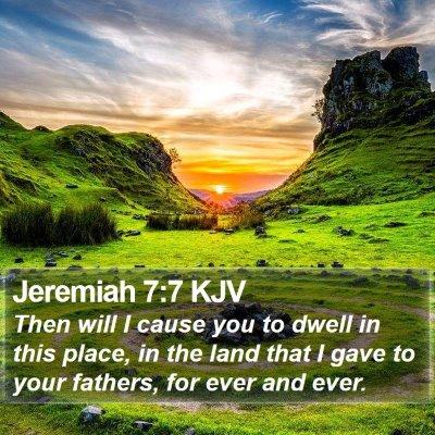 Jeremiah 7:7 KJV Bible Verse Image