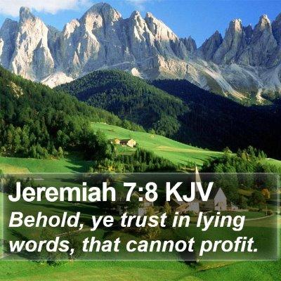 Jeremiah 7:8 KJV Bible Verse Image