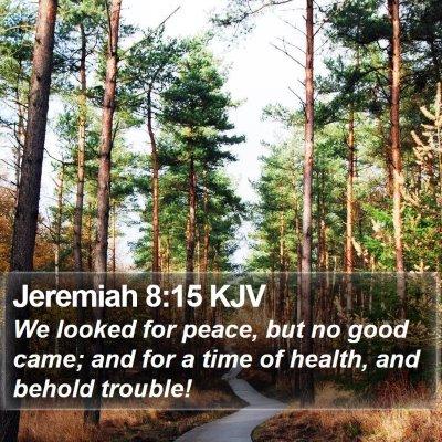Jeremiah 8:15 KJV Bible Verse Image
