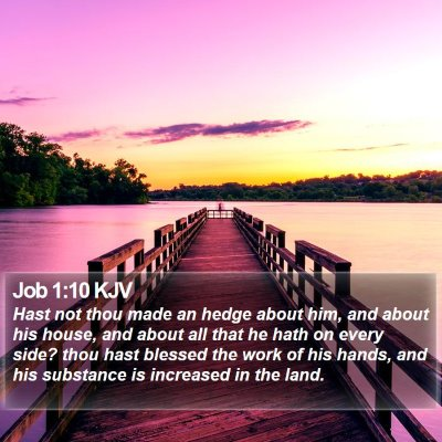 Job 1:10 KJV Bible Verse Image