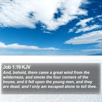 Job 1:19 KJV Bible Verse Image