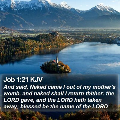 Job 1:21 KJV Bible Verse Image