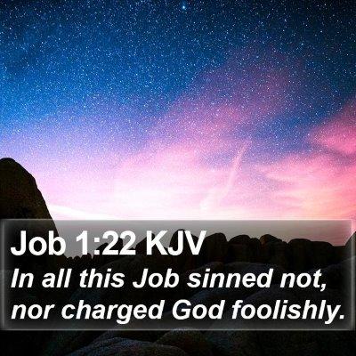 Job 1:22 KJV Bible Verse Image