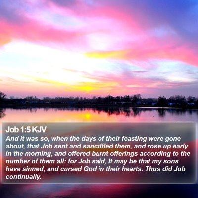 Job 1:5 KJV Bible Verse Image