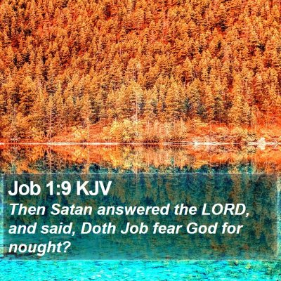 Job 1:9 KJV Bible Verse Image