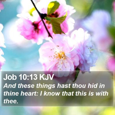 Job 10:13 KJV Bible Verse Image