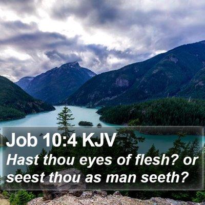 Job 10:4 KJV Bible Verse Image