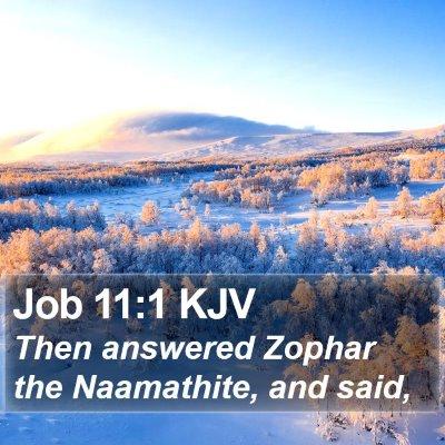 Job 11:1 KJV Bible Verse Image