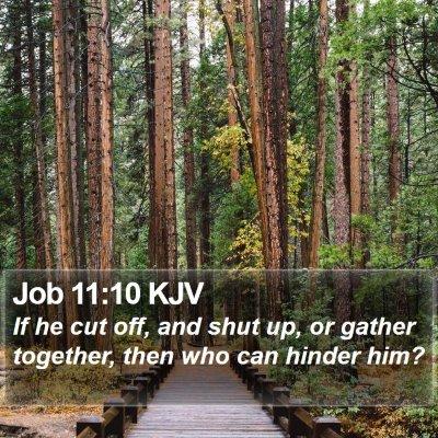 Job 11:10 KJV Bible Verse Image