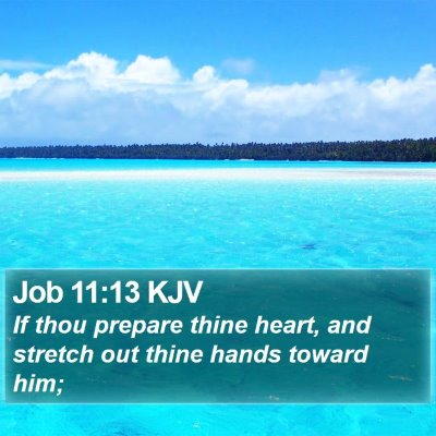 Job 11:13 KJV Bible Verse Image