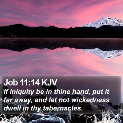 Job 11:14 KJV Bible Verse Image