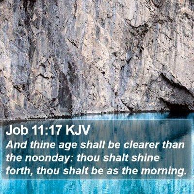 Job 11:17 KJV Bible Verse Image