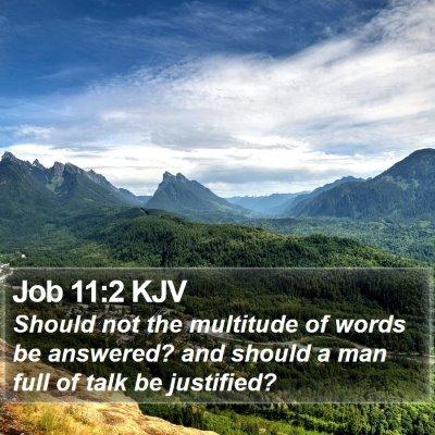 Job 11:2 KJV Bible Verse Image