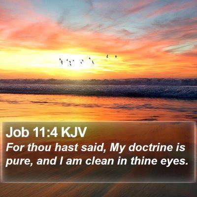 Job 11:4 KJV Bible Verse Image