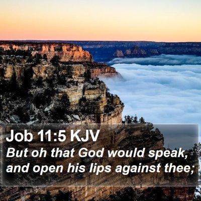 Job 11:5 KJV Bible Verse Image