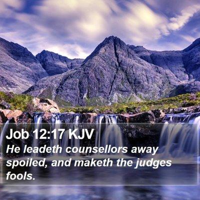 Job 12:17 KJV Bible Verse Image