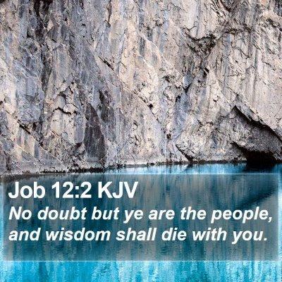 Job 12:2 KJV Bible Verse Image