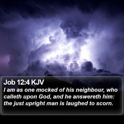 Job 12:4 KJV Bible Verse Image