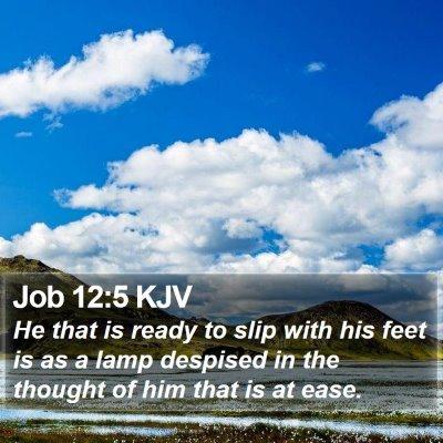 Job 12:5 KJV Bible Verse Image