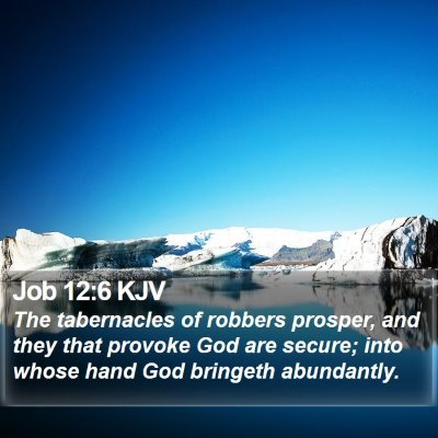 Job 12:6 KJV Bible Verse Image