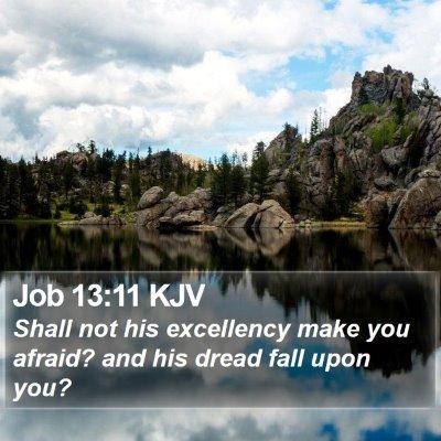 Job 13:11 KJV Bible Verse Image
