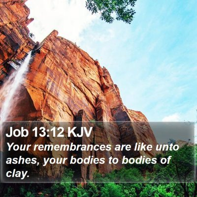 Job 13:12 KJV Bible Verse Image