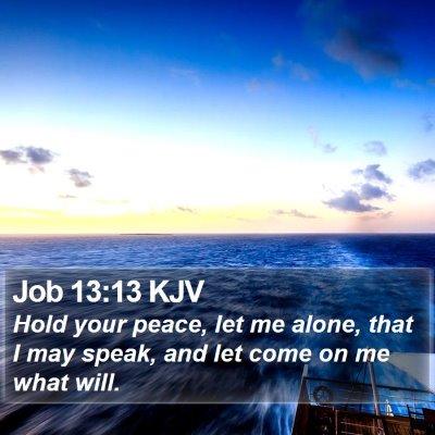 Job 13:13 KJV Bible Verse Image